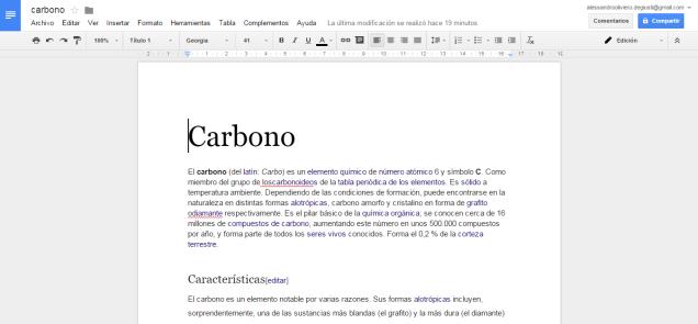 Edición y creación de documentos.